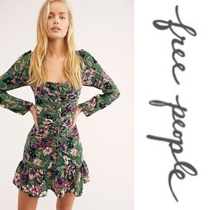 Free People • Forever Printed Mini Dress • NWT